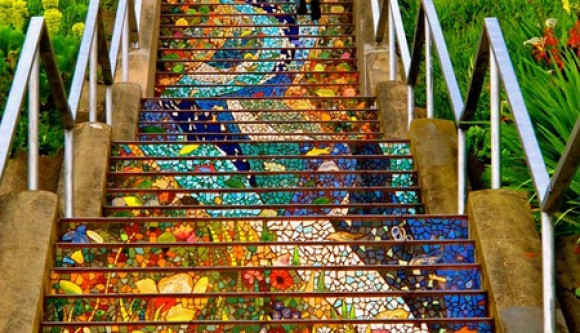 Colourful Mosaic Staircase