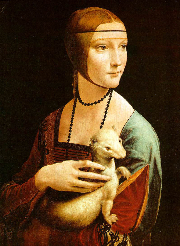 Da Vinci's Great Paintings - The Lady with an Ermine
