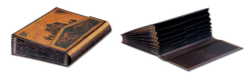 paperblanks accordion box safavid black moroccan