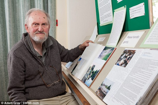 John Gadd's diaries on display at the Fontmell Magna Village Archive Society