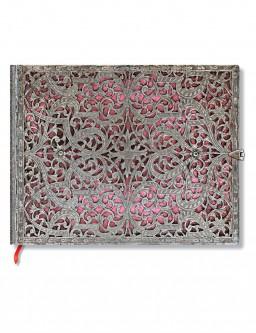 Silver Filigree Blush Pink