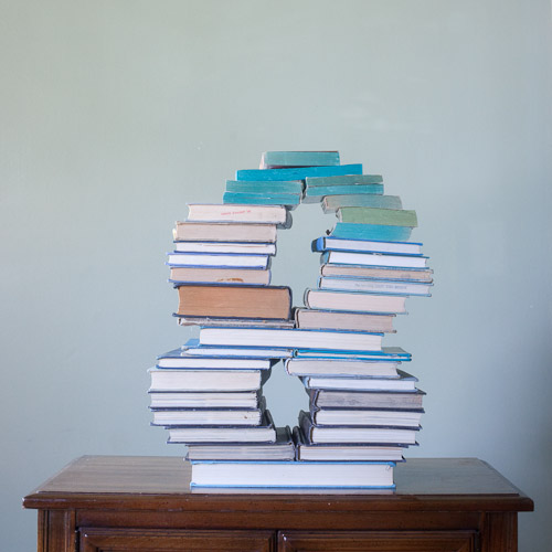 book art: paul octavious' stacked books | endpaper: the