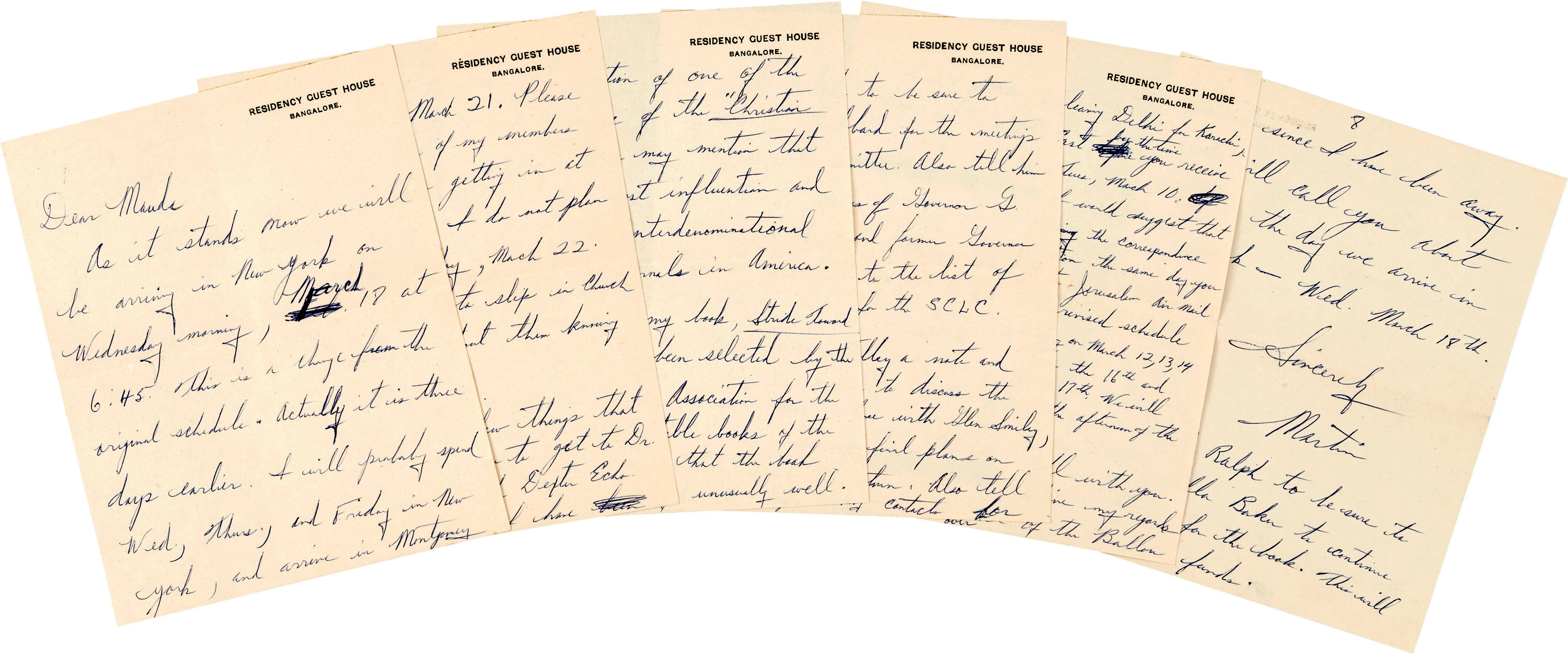 famous diaries martin luther king jr s civil rights letters  in