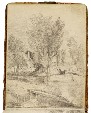 sketch of flatford mill 5281-large