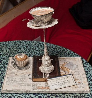 Anonymous' Tea Party Book Sculpture - via Inspiration Green