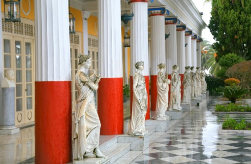 Peristyle of the Muses' of Achilleion (in Corfu, Greece)