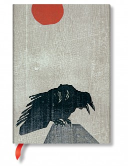 Crow with Red Sun