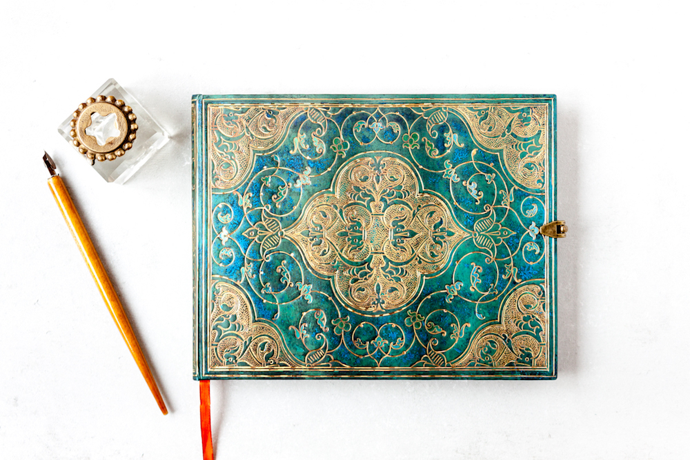 Paperblanks Turquoise Chronicles sketchbook (guest book)