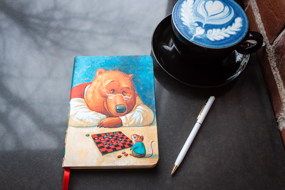 Paperblanks Your Move Journal design and blue latte