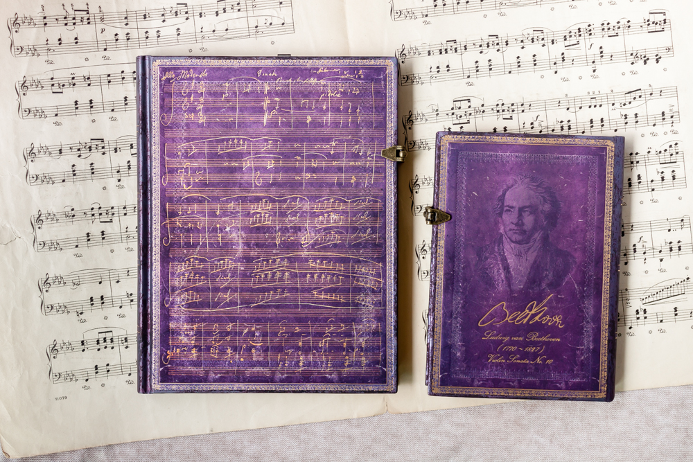 Beethoven's 250th Birthday Special Edition ultra journal front cover and midi journal back cover