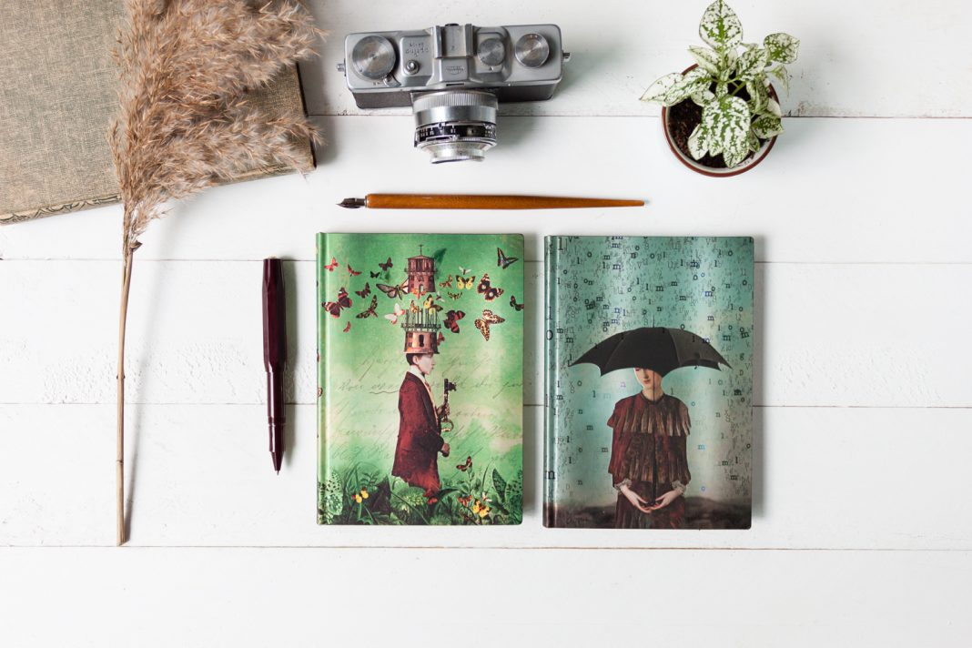 Paperblanks Free Your Mind notebooks featuring art by Catrin Welz-Stein