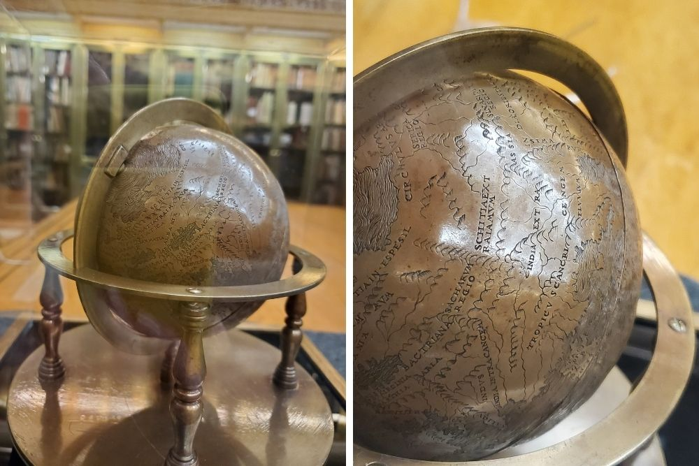 Pictured here: the Hunt-Lenox Globe at The New York Public Library